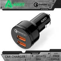 AUKEY Quick Charge 3.0 Car Charger with Dual Ports Model: CC-T8