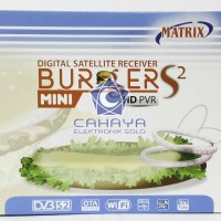 Receiver Parabola Matrix Burger HD S2 Mini Powervu Autoroll TV