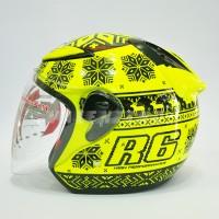 HELM NHK R6 Rossi Winter Test Yellow Fluo