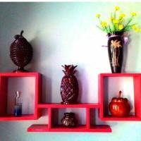 Rak gantung minimalis modern / Rak dinding / Floating shelves persegi
