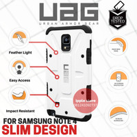 UAG Case Resistant For Samsung Galaxy Note 4 Urban Armor Gear - White