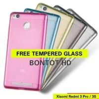 XIAOMI REDMI 3 PRO / 3S Softcase Jelly Case TPU FREE TEMPERED GLASS