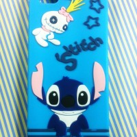 iPhone 5 5s 3D Cartoon Stitch #1 Soft Silicon Back Cover Case