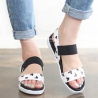 Sandal Selop Mickey SKL85 Putih Sandal Flat Shoes Murah Sandal Teplek