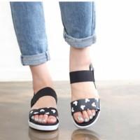 Sandal Selop Mickey SKL86 Hitam Sandal Flat Shoes Murah Sandal Teplek