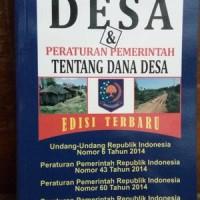Undang-undang Desa & Peraturan Tentang Dana Desa