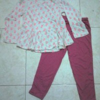 SALE Kaos peplum Bobo Kids + Leging stripe
