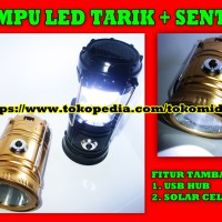 Lampu LED Tarik Senter Camping Lentera Darurat Emergency JY-5700T