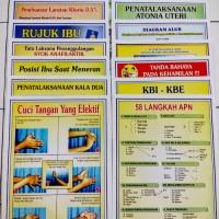 Poster Kebidanan 58 Langkah APN - 1 Set