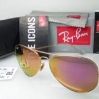Kacamata Original Sunglass RayBan 3025 Gold Red (Unisex)