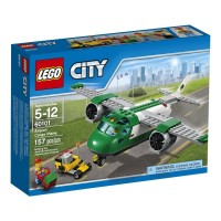 LEGO City - 60101 Airport Cargo Plane Set Toy Pilot Airplane Town Kid