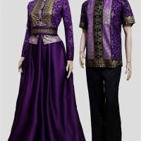 harga baju batik sarimbit couple gamis Tokopedia.com
