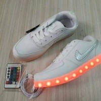 LED Shoes Nike Airforce Premium Original ( Sepatu lampu sepatu dance )
