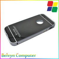 iPhone 5c Aluminium Bumper with Mirror Back Cover BLACK
