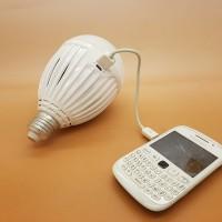 LUBY EMERGENCY 18W LAMPU LED + powerbank charger handphone