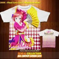 Kaos Anime Fullprint Senpai Collection! FINAL LOVE LIVE-NISHIKINO MAKI