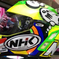 Helm NHK GP Pro GPPro Full Green Yellow Fluo Misano Missano Flou
