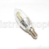 harga Led Candle Lamp 5 Watt E14 Body Silver (warm White) Tokopedia.com