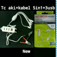 harga Mantab... Charger/Casan Aki Motor+Kabel 5in1+3Slot USB Saklar Tokopedia.com