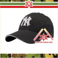 Topi Bordir NY Newyork Hitam Baseball Original