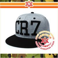 Topi Snapback Bordir CR7 Christian Ronaldo Real Madrid Hitam atau Abu-