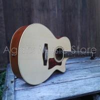 GOJEK ONLY |Gitar akustik Custom Audi natural