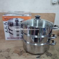 Panci Steamer / Kalakat Stainless Supra 3 susun 32cm Limited