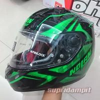 Helm Nolan N64 Flazy Metal Black Green Kawasaki masuk gaes 16392e421e