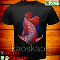 Kaos Arwana Super Red Deep Blue