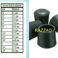 Harga karet rubber kaki bulat meja kursi pipa besi 2 1 2inci kaki chitose | WIKIPRICE INDONESIA