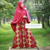 Jual gamis syari bergo abaya maxmara motif cantik aira ori naura Murah
