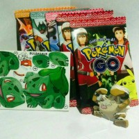 Jual Mainan puzzle sticker 3D pokemon GO pokeball Murah