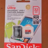 Jual MicroSD Sandisk 32GB Class 10 Speed up to 80MB/s Murah