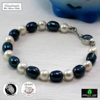 harga Gelang Mutiara Air Tawar Asli Ocean Blue Coral Handmade / Kado Tokopedia.com