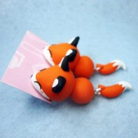 harga anting fox orange handmade clay musang korea Tokopedia.com