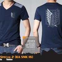 Jual Kaos Anime Attack On Titan SNK Special Navy T-Shirt (KA SNK 16) Murah