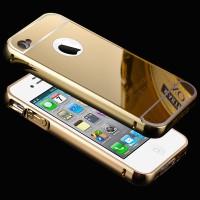 Iphone 5 / 5s / Se Grade A Bumper Alumunium + Plat Mirror