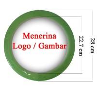 Souvenir Promosi Logo Custom Jam Dinding 28cm