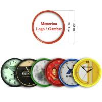 Souvenir Promosi Logo Custom Jam Dinding 30cm