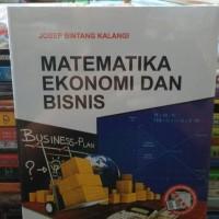 matematika ekonomi dan bisnis buku 1 by josep bintang kalangi