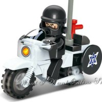 LEGO SLUBAN POLICE SERIES: ANTI RIOT MOTORCYCLE