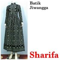 Jual Baju Gamis Batik Modern Sharifa Hitam, Busui, Gamis Pesta Murah