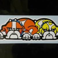 stiker gambar anjing Rossi