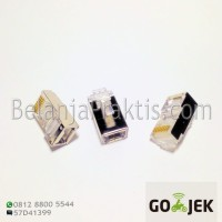 RJ45 RJ-45 8P8C Network CAT5E - Metal Shield - Plug Connector LAN