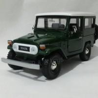 Miniatur Land Cruiser FJ40 Hijau Skala 1:24 - Diecast Motormax