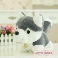 Boneka Cute Grey Husky Dog Doll - 26cm