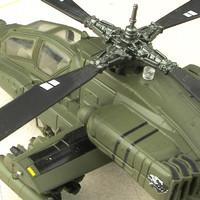 MIniatur Diecast APACHE AH-64 155 helikopter tempur