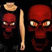 harga Baju kaos singlet distro tengkorak alien merah hitam hardcore Tokopedia.com