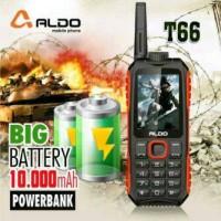 harga HP ALDO T-66 / T66 / T 66 POWERBANK 10.000mAh || NEW GARANSI 1 TAHUN Tokopedia.com