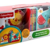 harga Fisher Price Board Books and Wooden Bookends (includes 4 board books & Tokopedia.com
